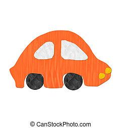 car Color children's plasticine on