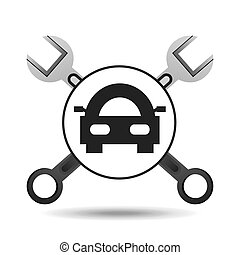 car concept support tool icon graphic