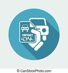 Car contract icon