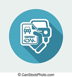 Car contract icon