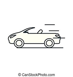 car convertible isolated icon
