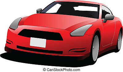 car coupe image. Vector illustratio