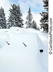 Car covered with snow 1