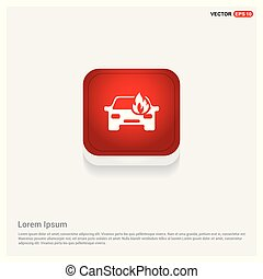 Car crash accident icon