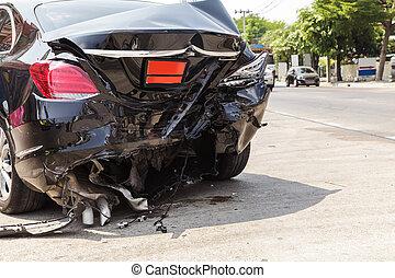 Car crash accident