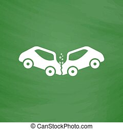car crash and accidents icon