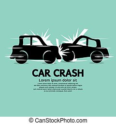 Car Crash. - Car Crash Vector Illustration EPS10