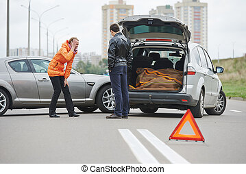 car crash collision in city