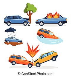 Car crash collision traffic insurance safety automobile...