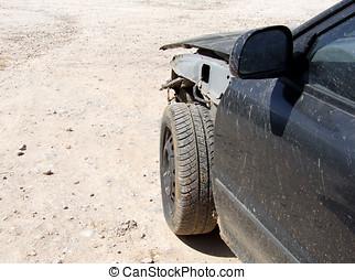 Car Crash - Front side of car after crash