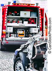 Car crash rescue training