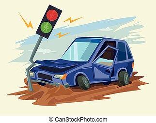 Car crash road accident