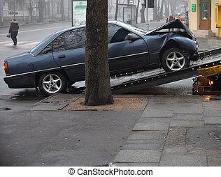 Car crash  - Scene of a car crash
