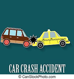 car crash sticker color - car crash accident in color...