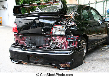 Car Crash - concept for accident, fatality, drunk-driving,...