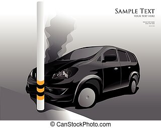 Car crash street light, vector illustrator