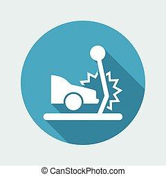 Car crash - Vector flat icon