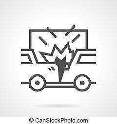 Car crash vector icon