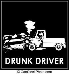 Car crash with alcohol