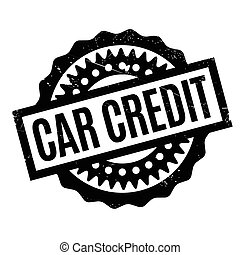 Car Credit rubber stamp