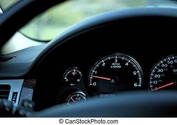 Car Dash RPM (Rotation Per Minute), Oil Temperature, Fuel ...