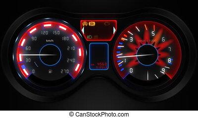 car dashboard 3d animation