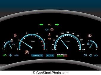 Car dashboard background - Car dashboard modern automobile...
