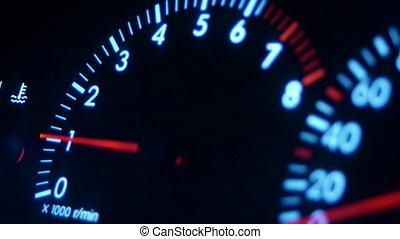 Car dashboard close up - Car dashboard closeup shot