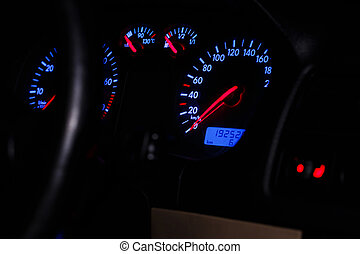 Car dashboard - Close up of car dashboard
