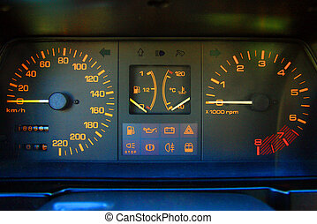car dashboard closeup