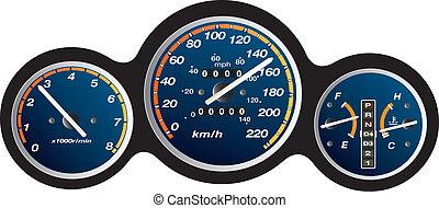 car dashboard gauge illustration