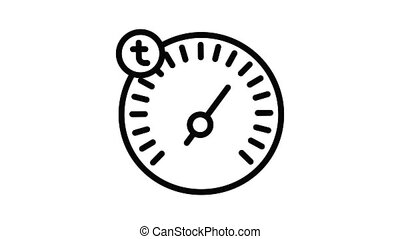 Car dashboard icon animation outline best object on white background