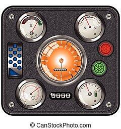 car dashboard icon - Car or vintage dashboard icon - vector...