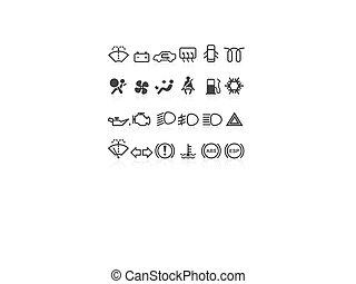 Car dashboard icons - Car dashboard icons