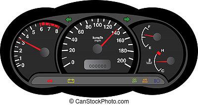 car dashboard illustration