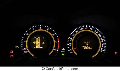 Car turning on dashboard view