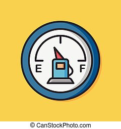 car dashboard vector icon