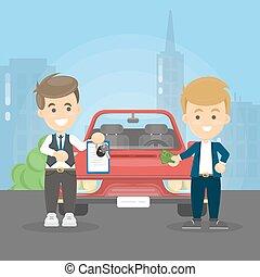 Car deal illustration.