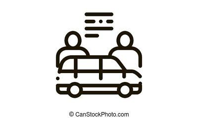 Car Dealer Buyer Icon Animation. black Car Dealer Buyer animated icon on white background