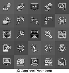 Car dealership icon