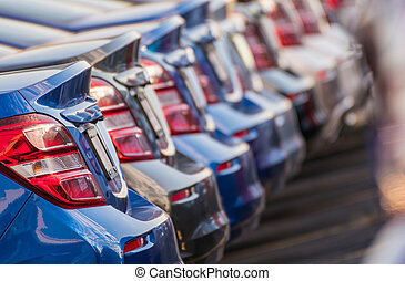 Car Dealership Stock Of Brand New Vehicles.