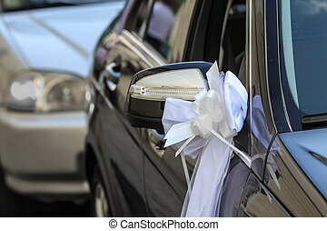 Car decoration for a wedding
