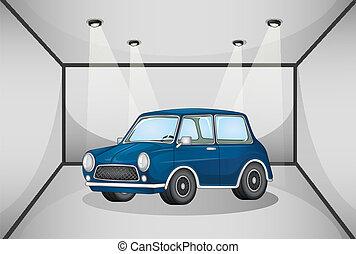 car, dentro, garagem
