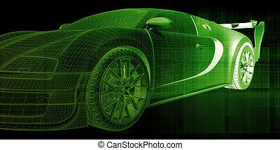Car Design Abstract