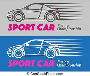 car, desporto, correndo