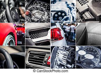 Car details collage