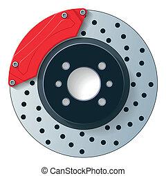Car dick brake vector graphic detailed part