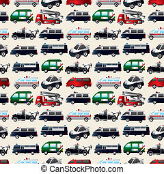car, diferente, seamless, tipos, padrão