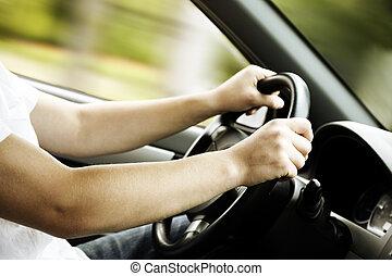 car, dirigindo