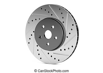 Car disc brake rotor, 3D rendering